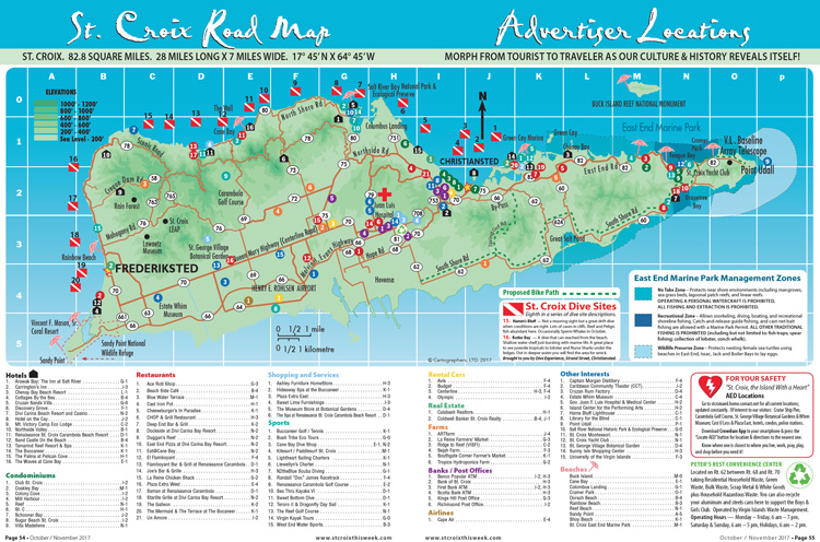 st croix island road map